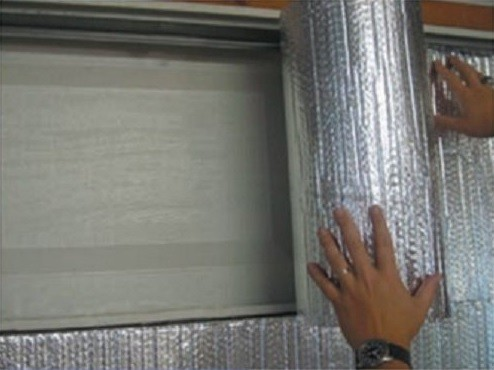 Reflective insulation garage doors