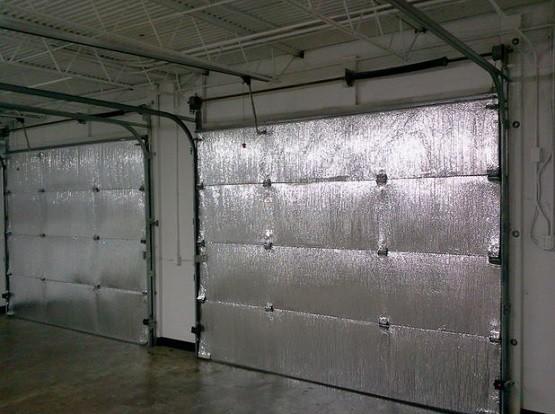 Reflectix sheet garage door insulation panels