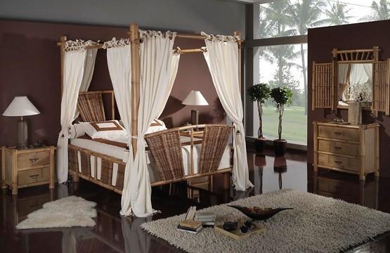 Rustic Bamboo Bedroom Furniture Sets