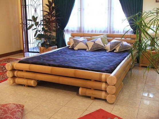 Simple bamboo bedroom furniture set