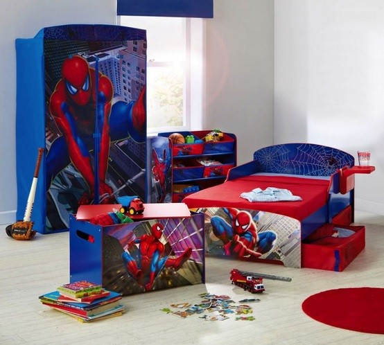 spiderman furniture set for toddler boy bedroom ideas home interiors. Black Bedroom Furniture Sets. Home Design Ideas