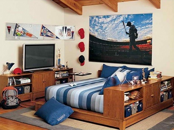 Sport theme ideas for teen boy bedroom
