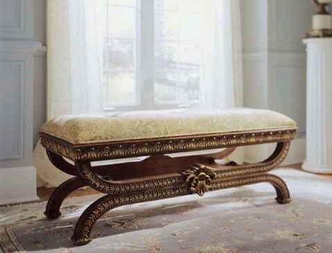 Stylish antique bedroom bench furniture