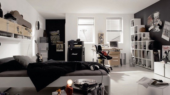 Teen boy bedroom music theme ideas