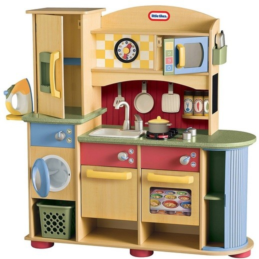 New wooden play kitchen set with best kitchen set ideas for Kitchen set 2015