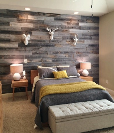 reclaimed wood paneling as a solution in decorating our house bedroom wall reclaimed wood paneling