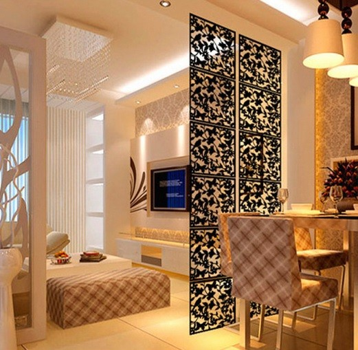 Decorative hanging screen room dividers