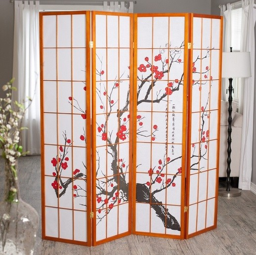 Japanese cherry blossom decorative room dividers