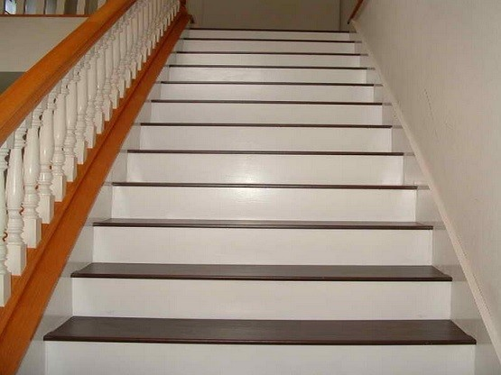 Laminate stair treads and raisers