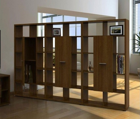 Large wood bookcase room dividers - Bookcase Room Dividers: Two Functions In One Furniture Home
