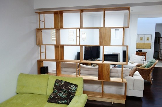 Modern Custom Made Bookcase Room Dividers For Living Room