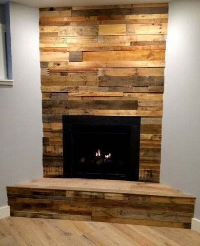 reclaimed wood paneling as a solution in decorating our house simple fireplace decoration with reclaimed wood paneling