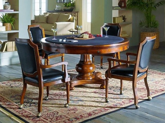 Black Dining Room Chairs With Casters Leather Home Interiors