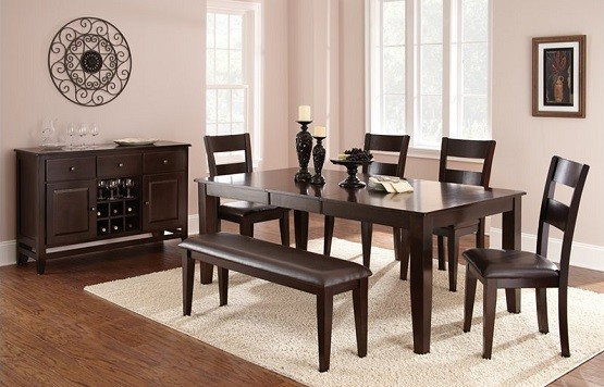 Mango Wood Dining Table Designs And Ideas » Modern Rectangular Shaped Mango  Wood Dining Table Design