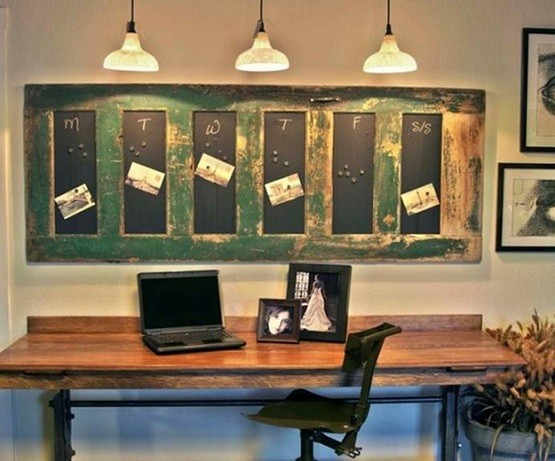 Rustic Style Decorative Cork Boards Design For Small Home Office Home Interiors