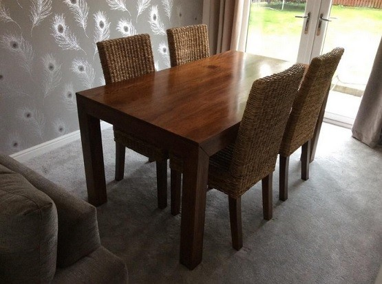 Mango Wood Dining Table Designs And Ideas Solid With Glisten Finishing