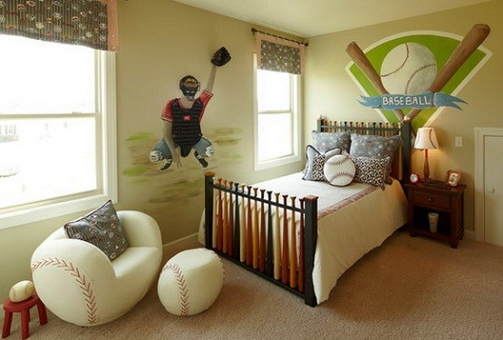 3 Cool Theme Boys Room Paint Ideas With Pictures Sport