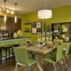 Green paint color for dining rooms with cream kitchen wall