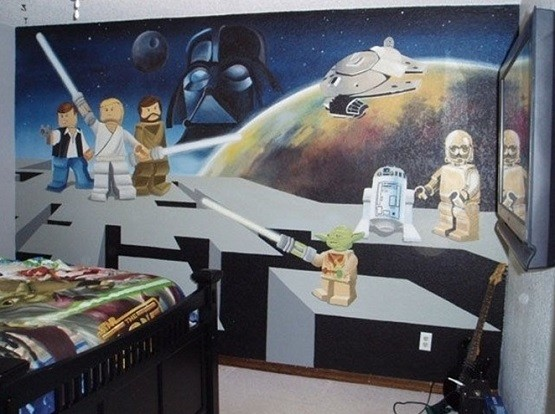 Room 2 Build Bedroom Kids Lego: Star Wars Room Decor, Curious Ways To Make Kid's Bedroom