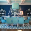 Light blue dining set and blue paint color for dining room
