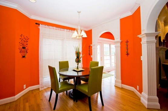 orange paint colors for bedrooms orange paint color for dining room home interiors 19354