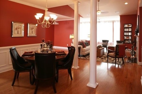 Determine The Best Paint Colors For Dining Rooms » Red Brown Combination Paint  Color For Dining Room