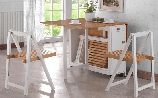 Space saving dining room furniture