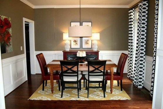 White And Brown Paint Color For Dining Room