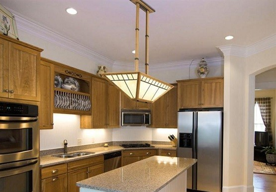 Custom arts and crafts lighting for kitchen