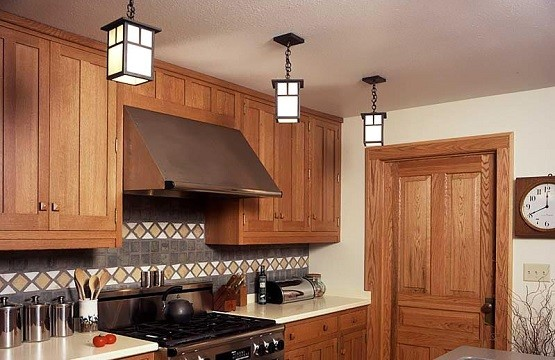 Evergreen single pendant arts and crafts lighting for kitchen