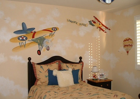 How To Apply Vintage Airplane Decor Perfectly In The Kids