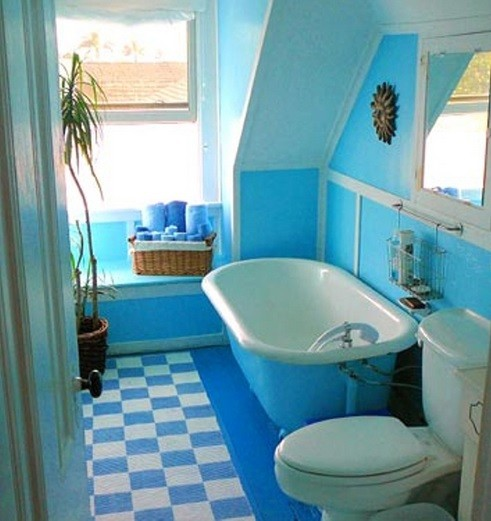 small bathroom paint ideas with blue