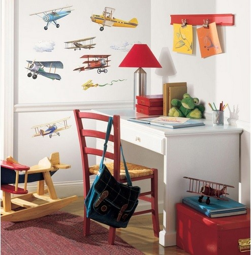 How to apply vintage airplane decor perfectly in the kids Vintage childrens room decor
