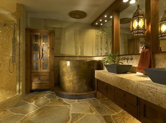 Rustic Bathroom Lighting Ideas » Beautiful Rustic Pendant Bathroom Lighting  Design