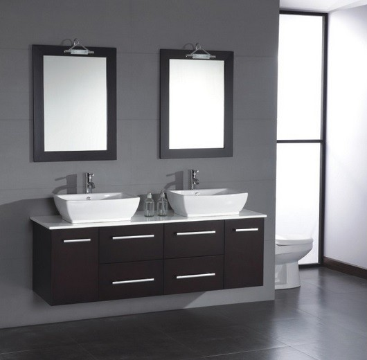 Black vanity storage ideas with mirror for small bathrooms