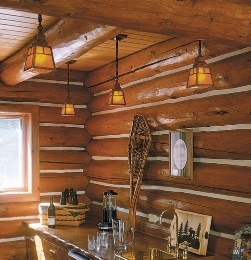 Ceiling rustic bathroom lighting design