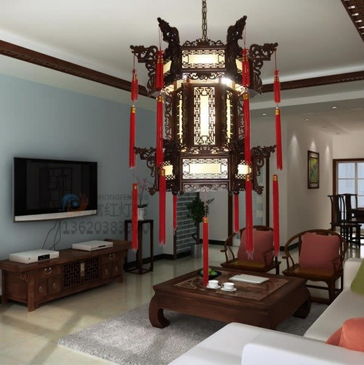 Chinese style lantern light fixtures placement
