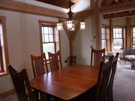 Craftsman mission style pendant lighting dining room