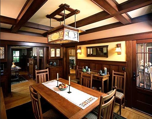 Craftsman style lighting for dining room