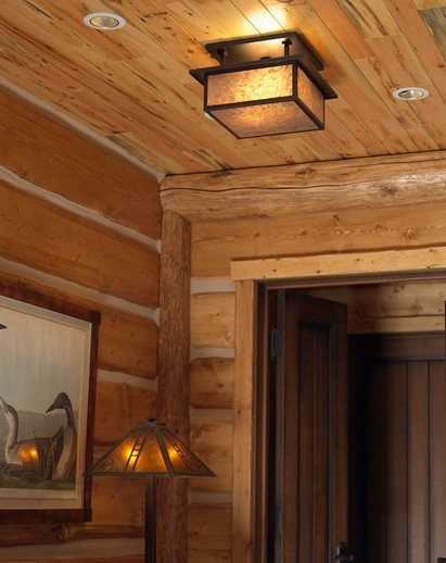 Craftsman style lighting in rustic decoration