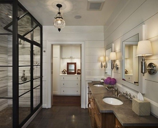 Craftsman style single bath sconce lighting