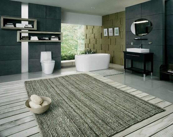 large bathroom rugs and mats design home interiors. Black Bedroom Furniture Sets. Home Design Ideas
