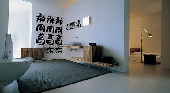 Grey large bathroom rugs