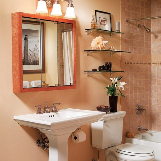 Mirror box storage ideas for small bathrooms
