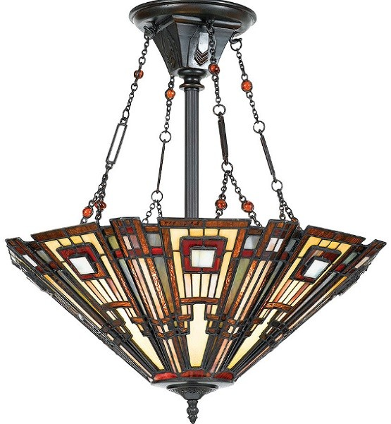 Prairie craftsman style lighting design