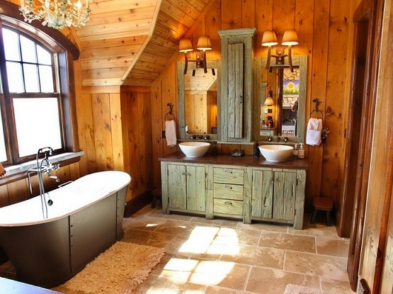 Superieur Rustic Bathroom Lighting Ideas