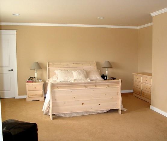 Simple unfinished bedroom furniture design