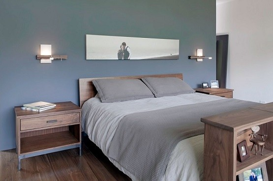 Solid wood unfinished minimalist bedroom furniture