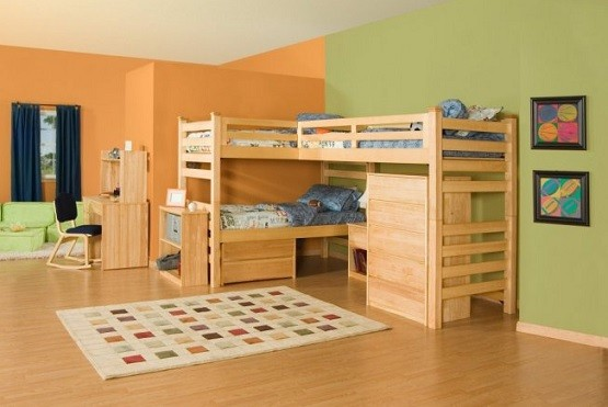 Unfinished wooden bedroom furniture for kid