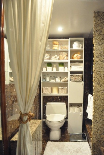 White Storage Ideas For Small Bathrooms Over Toilet Home Interiors